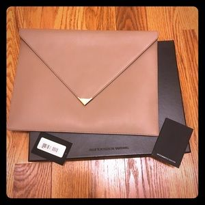 Alexander Wang Latte Leather Large Clutch Purse